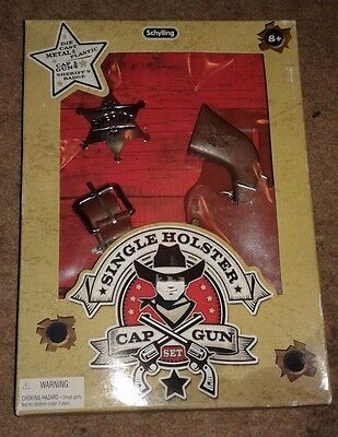 Schylling Cap Gun Set Single Holster New With Sheriffs Badge Bang! Bang!