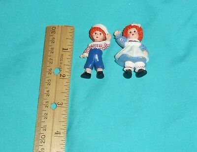 2 Mini Figures HALLMARK Merry Miniatures Madame Alexander Raggedy Ann & Andy