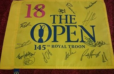 The Open past champions signed pin flag / COA