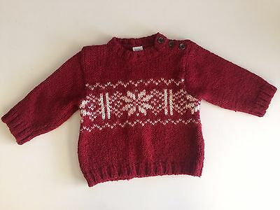 Baby gap wool blend Snowflake sweater size 12-18 Months Fall Winter