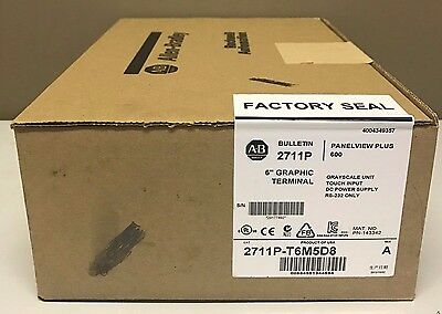 New Sealed Allen-Bradley 2711P-T6M5D8 PanelView Plus 6 600 Touch/RS232 DC