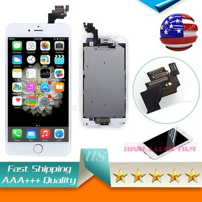 For iPhone 6 PLUS 5.5'LCD Touch Screen With Camera+Home Button White Replacement