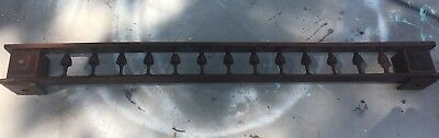 """Molding Spindle Wood Victorian Walnut Architectural Salvage Pediment 41.75"""""""
