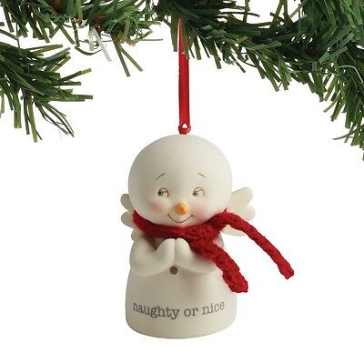 Department 56  Snowpinions Naughty or Nice  Snowman Ornament New 2017 !