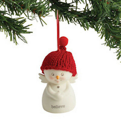Department 56  Snowpinions Believe  Snowman Ornament New 2017 !