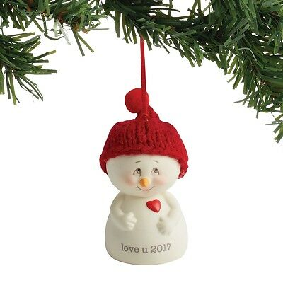 Department 56  Snowpinions DATED 2017 Love You Snowman Ornament New 2017 !