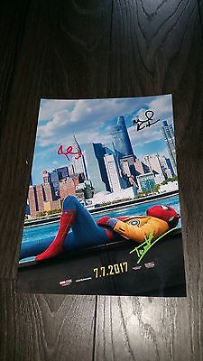 "Spiderman : Homecoming Pp Signed 12""X8"" A4 Photo Poster Tom Holland"