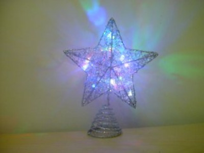 Christmas Concepts 15cm Silver Tree Top Star With Led Lights - Ra140