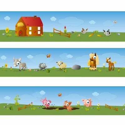 "Wandkings border ""Big Farm"" Length: 177 inch self-adhesive for children's rooms"