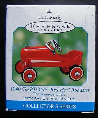 "HALLMARK Keepsake 1940 Garton ""Red Hot"" Roadster Kiddie Car Classics QE08404"