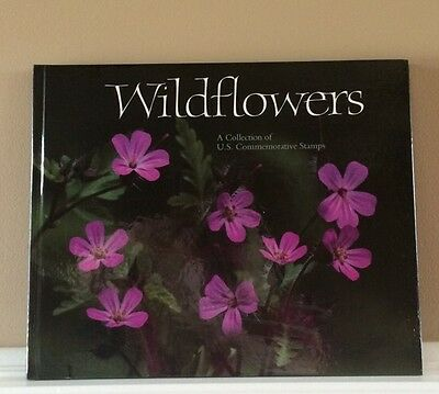 Wildflowers U. S. Commemorative Stamps Hardcover Book~New In Protective Folder