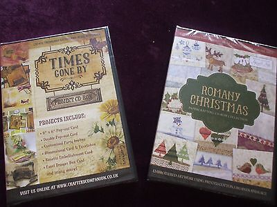Crafter's Companion :- Times Gone by & Romany Christmas Papercrafting C.D. Roms