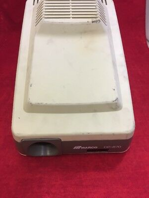 MARCO CP-670 Auto Chart Projector Optometry Eye Exam See Listing
