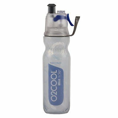 O2COOL ArcticSqueeze Insulated Mist 'N Sip Squeeze Bottle 20-Ounce Blue