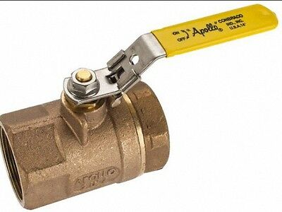 "Apollo 70-107-27 1-1/2"" Bronze Ball Valve, Locking Handle, 600 PSI"