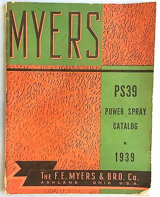 1937 Myers Spray Pump Catalog Plus Letter Head & Sales Sheet Complete 77 Pages