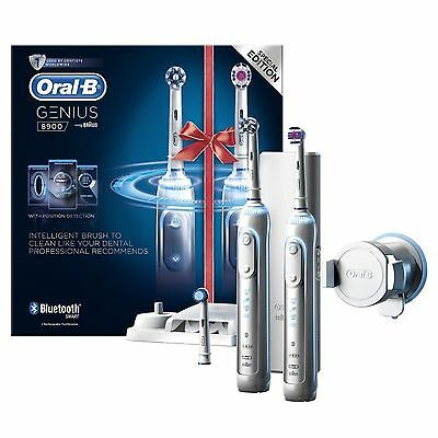 Oral-B GENIUS PRO 8900 CrossAction Electric Rechargeable Toothbrush Two Handles