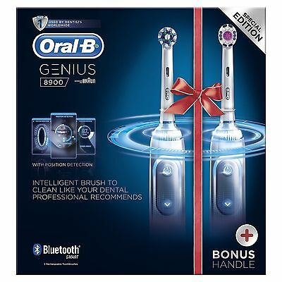 DHL EXPRESS Oral-B GENIUS PRO 8900 CrossAction Electric Rechargeable Toothbrush