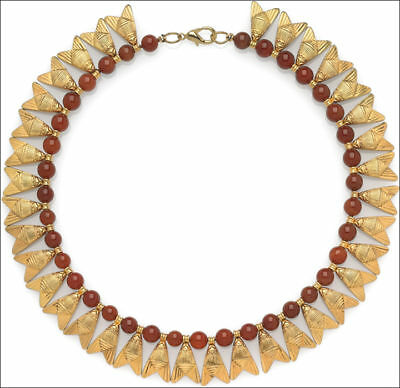 Egyptian Carnelian Beads and Fly Necklace. - Museum Store Collection