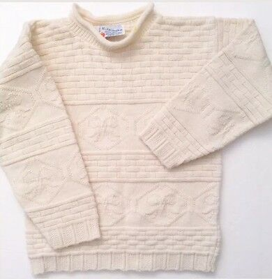 Vintage 80's R.J. PUMPKIN Off-WHITE VINTAGE Ribbons SWEATER Toddler Size Girl's
