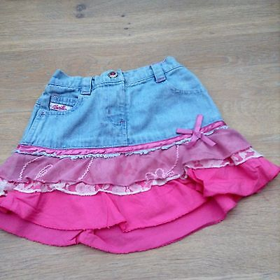 Baby Girls Denim Barbie Ruffle Skirt 6-12 months