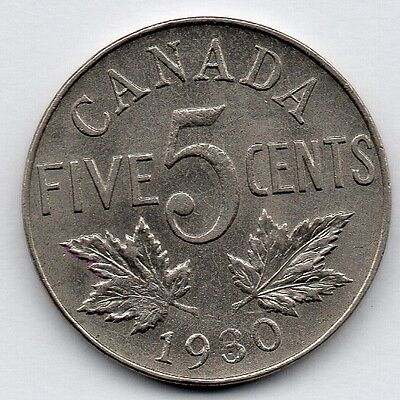 Canada 5 Cent 1930 (Nickel) Coin