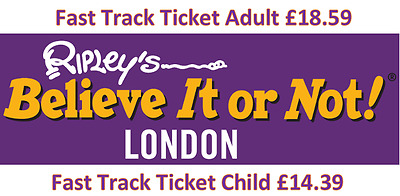 Ripley's Believe it or Not London Fast Track Adult £18.59 or Child £14.39