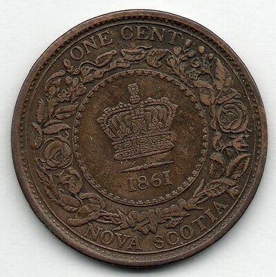 Nova Scotia 1 Cent 1861 Coin