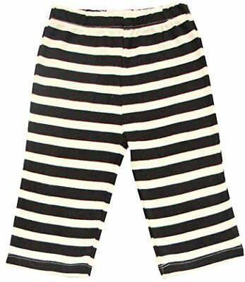 GOTS Certified Organic Cotton Clothing Baby Pants (Black-Natural 6-12m)