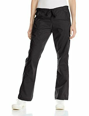 WonderWink Women's Wonderflex Grace Scrub Pant Black Solid Medium