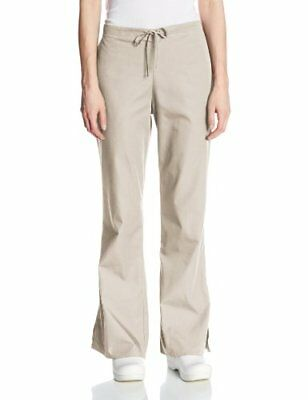 Cherokee Women's Tall Fashionable Flare Leg Drawstring Pant Khaki 2X-Small