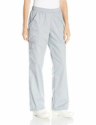 Cherokee Women's Ww Core Stretch Mid Rise Pull-On Cargo Pant Grey 2X-Small Pe...