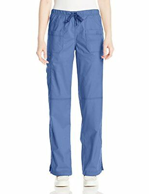 WonderWink Women's Petite Wonderflex Faith Scrub Pant Windsor Blue XX-Small/P...