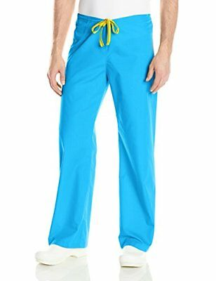 WonderWink Men's Origins Papa Unisex Scrub Pant Malibu Blue 5X-Large