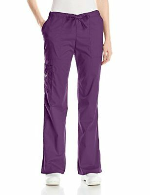 Cherokee Women's Petite Workwear Scrubs Mid-Rise Core Stretch Drawstring Carg...