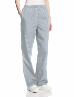 Cherokee Women's Workwear Scrubs Pull-On Pant (Size 2X-5X) Grey 2X-Large