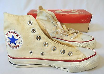 Vintage Chuck Taylor Converse Sneakers Shoes Dead Stock Youth Kid 2 1/2 Boys Hi