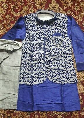 3 piece,USA,Kids,boys,desi,India,Pakistan,kurta pajama,Jacket,Salwar kameez,vest