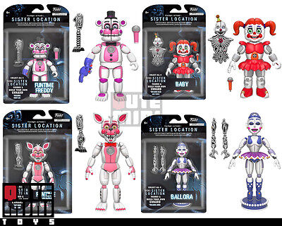 "Funko Five Nights At Freddy's Sister Location Set Of 4 Ennard 5"" Action Figures"