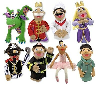 Melissa & Doug Hand and Rod Puppet - Dragon King Ballerina Pirate Firefighter