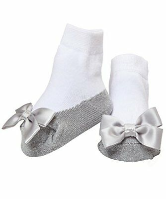 Mary Jane Socks Anti Slip With A Bling! Sparkle Infant Socks 12-18 Months (Si...