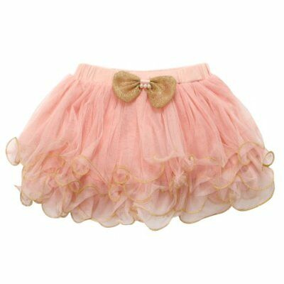 Richie House Girls' Tutu with Gold Bow and Trim RH0290-7/8