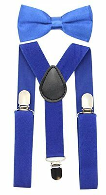 JAIFEI Suspender&Bow Tie Set-Adjustable Strong Clip-on Suspender for Boys...