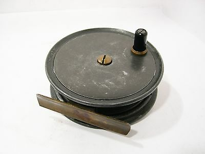 """Vintage Antique Alloy Smith & Wall 3 ½"""" Contracted Trout Fly Fishing Reel"""