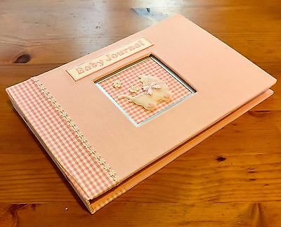 Baby Girl Pink Journal / Record Book  'Window' Effect