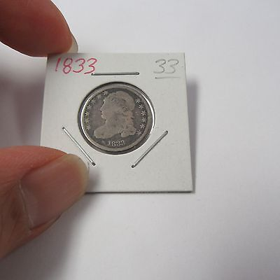 1833 Capped Bust Dime ( Combine Shipping )