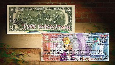 WILLY WONKA (PUI) Banksy/Rency ART $2 U.S. Bill HAND-SIGNED *LIMITED & S/N of 10