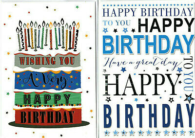 Various General Birthday Cards For Male Men Boys Kids