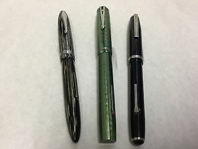 VINTAGE FOUNTAIN PENS:  Esterbrook 2968 & 2556, Sheaffer L53316 Not Restored