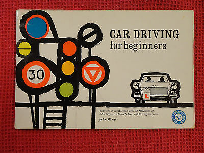 Vintage 1960 England Car Driving for beginners instructional booklet